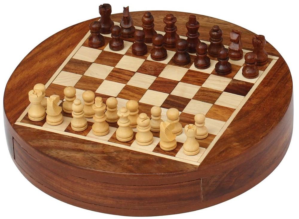 Wooden Round Chess Board