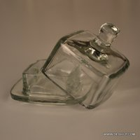 Clear Glass Jar With Glass Lid
