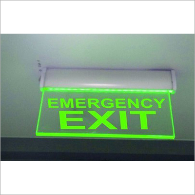 Edge Lit Emergency Exit Sign