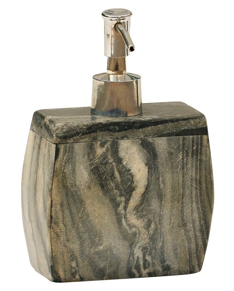 Grey Black Marble Soap Dispenser