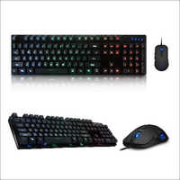 Backlit Led Illuminated Gaming Keyboard And Mouse Combo