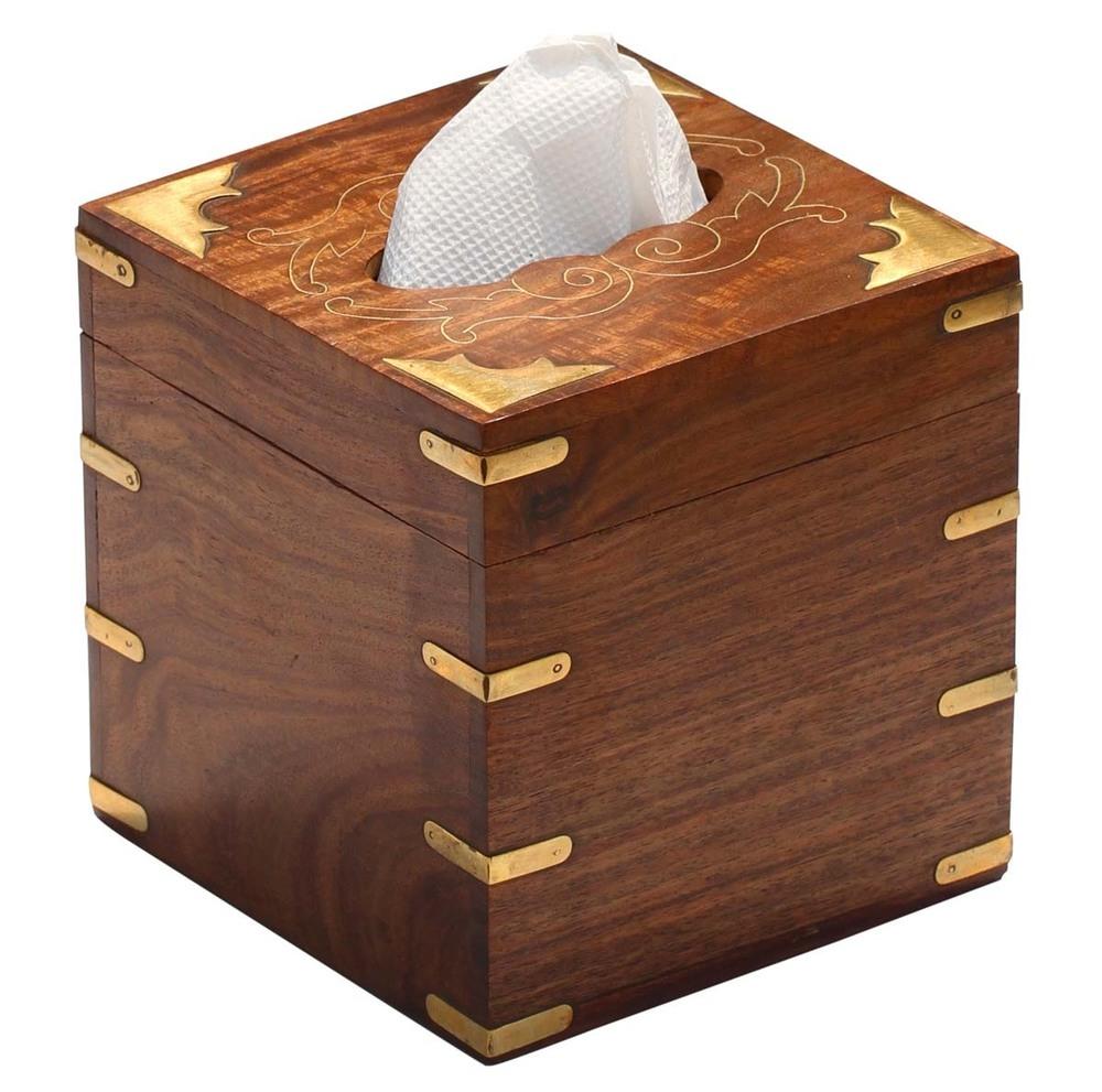 Handmade Wooden Tissue Box