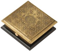 Wooden Jewelry Box With Brass Sheet