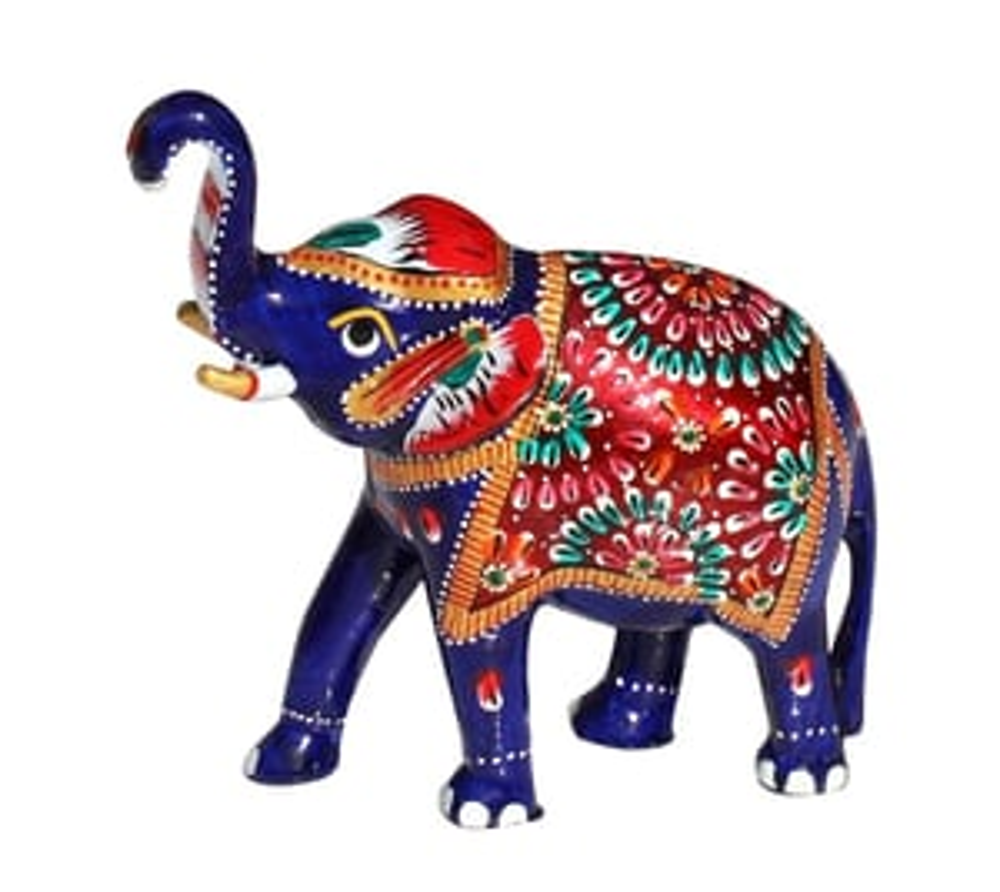 Meenakari Work Handmade Metal Elephant