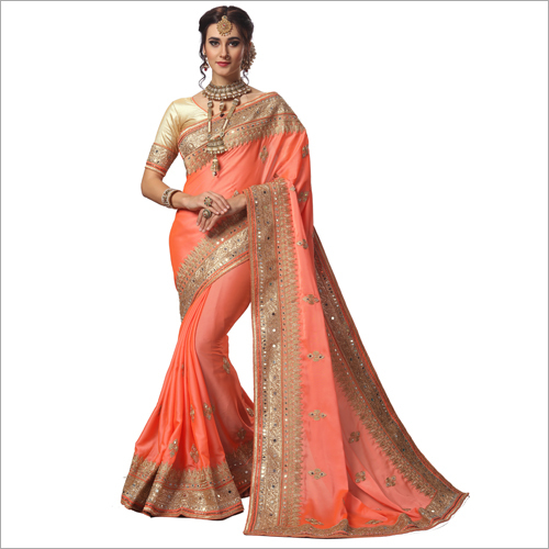 Ladies Designer Lace Work Saree