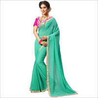 Fancy Satin Lace Work Saree