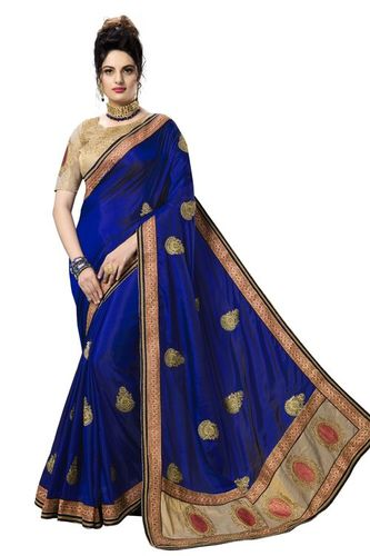 Fancy Lace Work Embroidered Saree