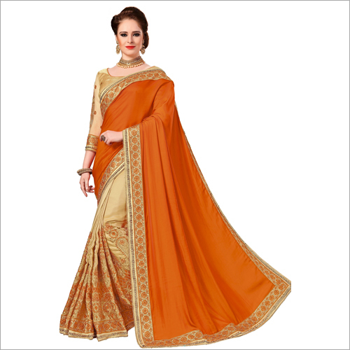 Fancy Half N Half Silk Saree