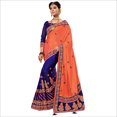 Ladies Fancy Embroidered Saree