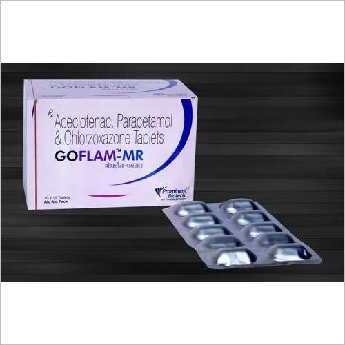 Aceclofenac 200 Mg & Paracetamol 325 Mg & Chlorzoxazone 250 Mg