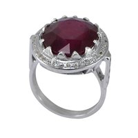 Ruby Gemstone Handmade Jewelry Manufacturer 925 Sterling Silver Ring Sz 6.75 Jaipur Rajasthan India