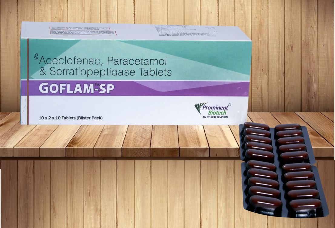 Aceclofenac 100 mg & Paracetamol 325 mg & Serratiopeptidase 15 mg