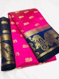 Kanjivaram Hathi Butta Saree With Jacquard Work