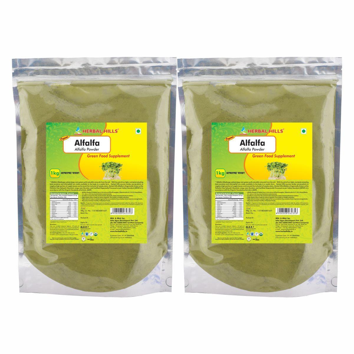 Organic Alfalfa 1kg Powder - Weight loss & Blood Circulation