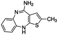4-Amino-2-methyl-10H-thieno[2,3-b][1,5]-benzodiazapine, Hydrochloride CAS 138564-60-0