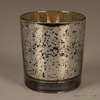 Small Silver Finish T Light Candle Holder