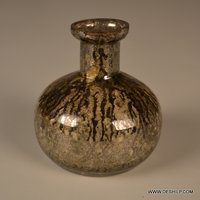 Decorated Glass Silver Flower Vase