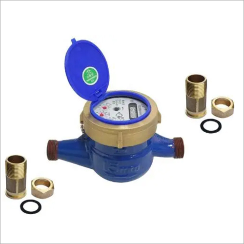 Dn15-50 Multi-Jet Cast Iron Body Dry Type or Wet Type Cold Brass Water Meter