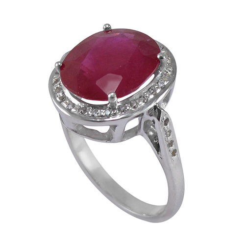 Handmade Jewelry Manufacturer Ruby Gemstone 925 Sterling Silver Ring Jaipur Rajasthan India
