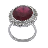Handmade Jewelry Manufacturer Ruby Gemstone 925 Sterling Silver Ring Sz 6 Jaipur Rajasthan India