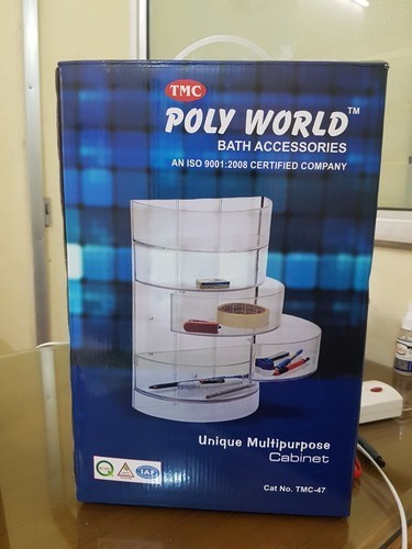 Transparent Plastic Polyworld Bathroom Accessories