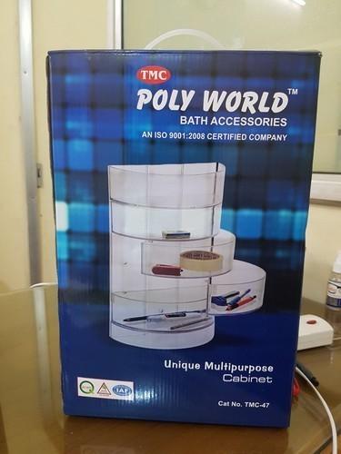 Transparent Plastic Polyworld Bathroom Accessories