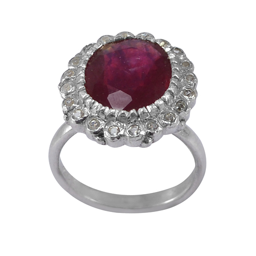 Jaipur Rajasthan India Ruby Gemstone 925 Sterling Silver Ring Sz 6.25 Handmade Jewelry Manufacturer