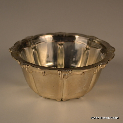 T Light Silver Glass Candle Holder