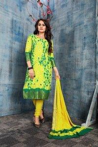 Multi Batik Cotton Dress Material
