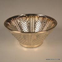 Silver Glass Home Decor Candle Holder