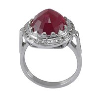 Jaipur Rajasthan India Ruby Gemstone Handmade Jewelry Manufacturer 925 Sterling Silver Ring