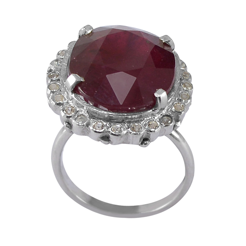 Handmade Jewelry Manufacturer Ruby Gemstone 925 Sterling Silver Ring Sz 6 Jaipur Rajasthan India
