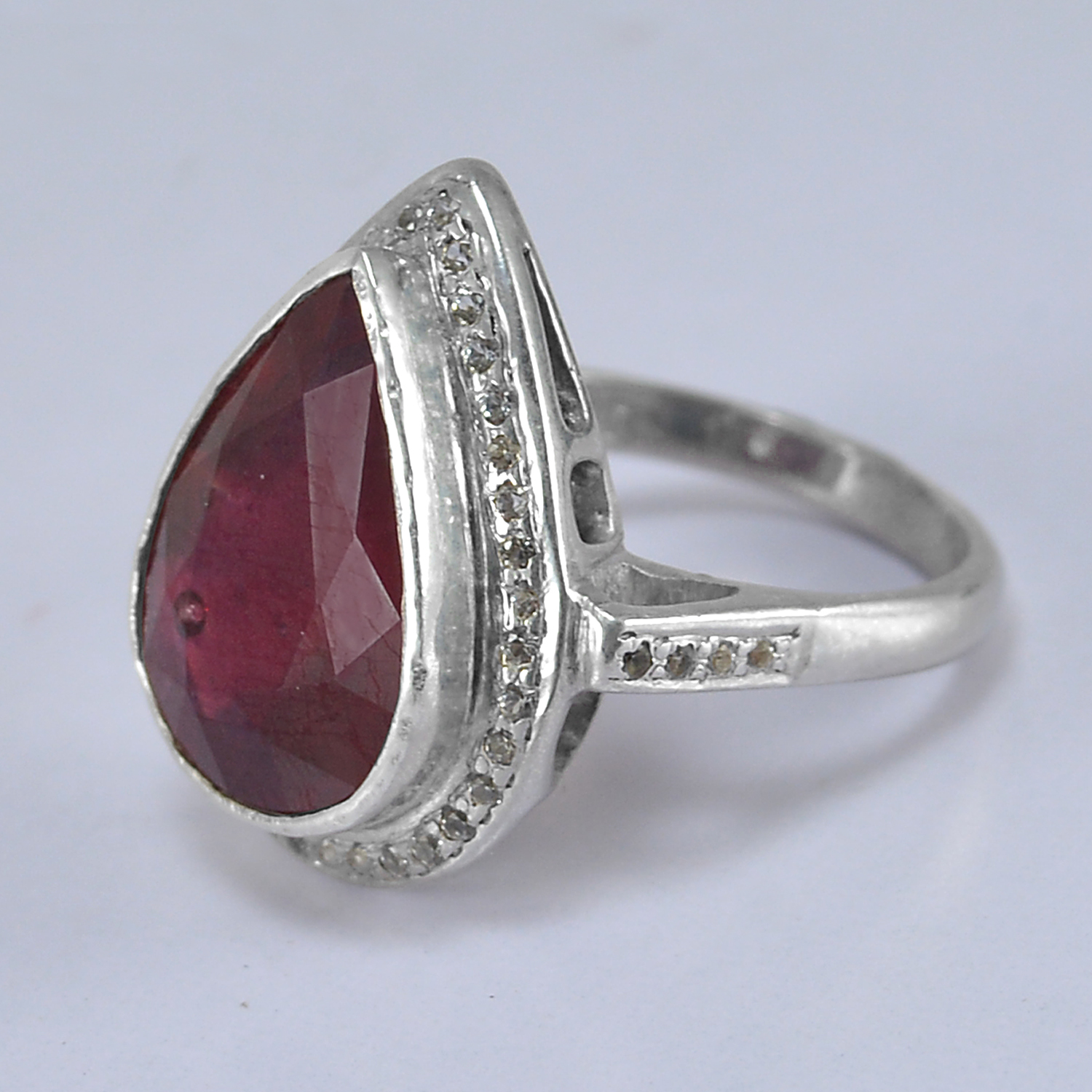 Jaipur Rajasthan India Ruby Gemstone 925 Sterling Silver Ring Sz 6 Handmade Jewelry Manufacturer