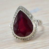 Jaipur Rajasthan India Ruby Gemstone 925 Sterling Silver Ring Sz 6 Handmade Jewelry Manufacturer