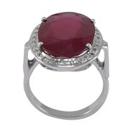 Jaipur Rajasthan India Ruby Gemstone 925 Sterling Silver Ring Handmade Jewelry Manufacturer