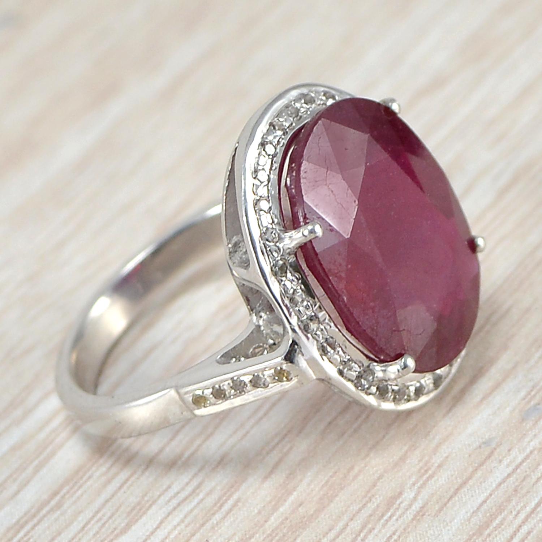 Jaipur Rajasthan India Ruby Gemstone 925 Sterling Silver Ring Handmade Jewelry Manufacturer