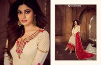 SHARARA STYLE SEMI STITCH SUITS