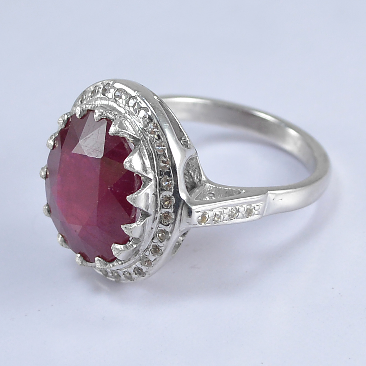 Handmade Jewelry Manufacturer Ruby Gemstone 925 Sterling Silver Ring Sz 6.75 Jaipur Rajasthan India