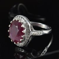 Handmade Jewelry Manufacturer Ruby Gemstone 925 Sterling Silver Ring Sz 6.75 Jaipur Rajasthan India
