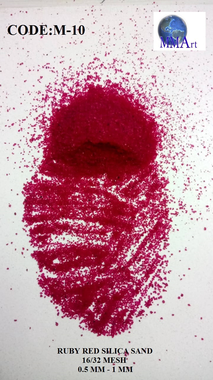Indian Manufacturer Royal Pink Color Coated Silica Sand