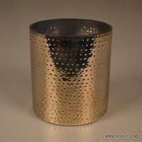 Silver Home Decor Glass Candle Holder