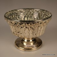 Antique Glass T-Light Candle Holder
