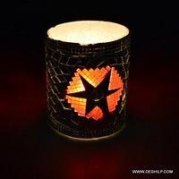 Mosaic Small T Light Candle Votive