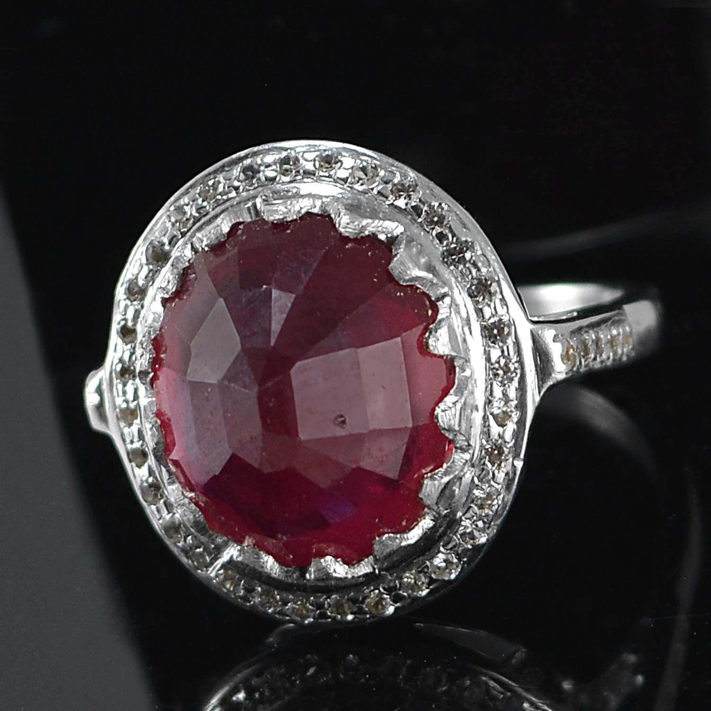 Jaipur Rajasthan India Ruby Gemstone 925 Sterling Silver Ring Sz 6.5 Handmade Jewelry Manufacturer
