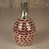 Bottle Shape Glass Flower Vase