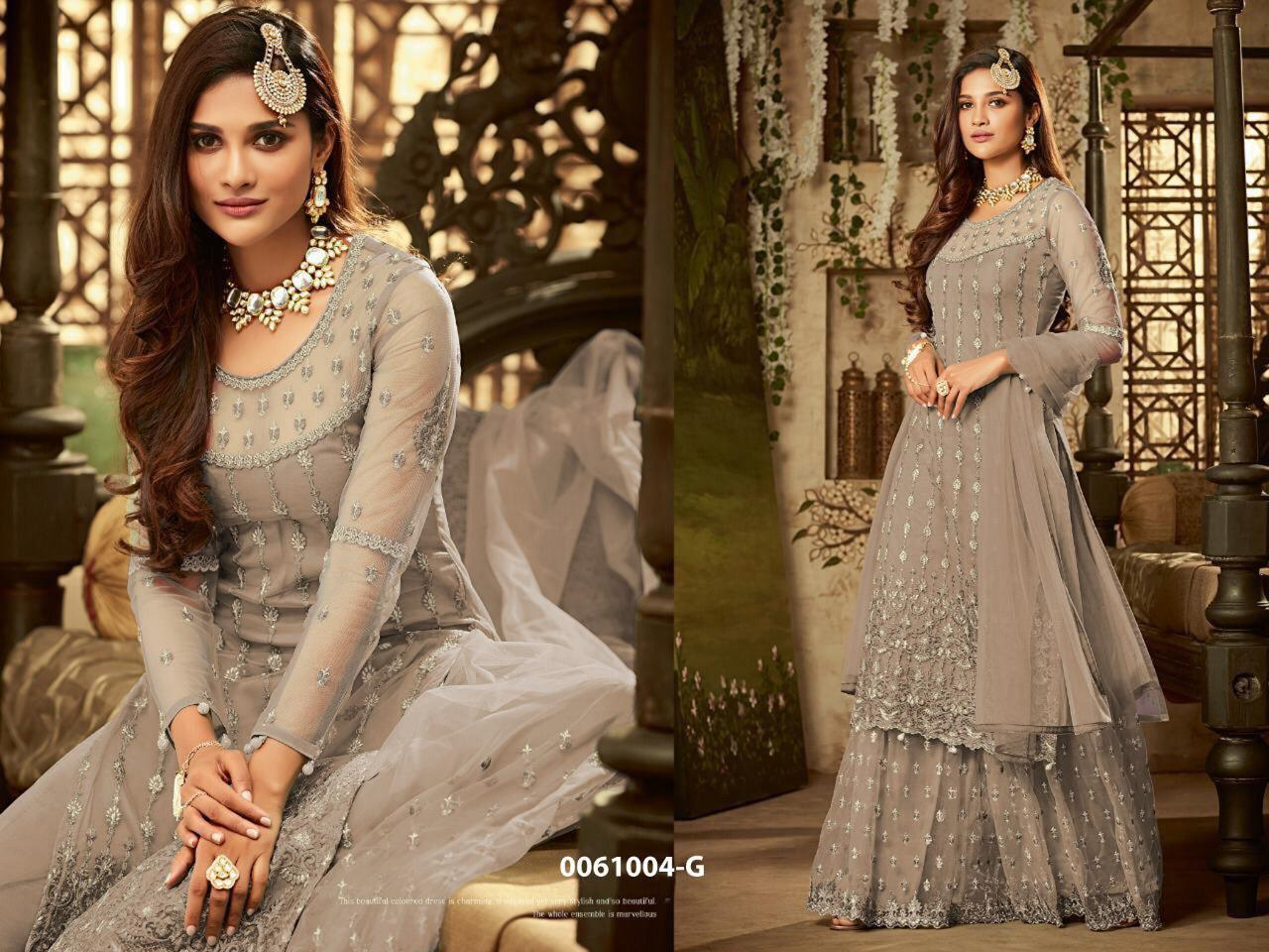 Net Hevy Embroidery Anarkali Suit