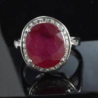 Ruby Gemstone Handmade Jewelry Manufacturer 925 Sterling Silver Ring Sz 6 Jaipur Rajasthan India