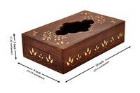 Rectangle Wooden Tissue Napkin Holder Box