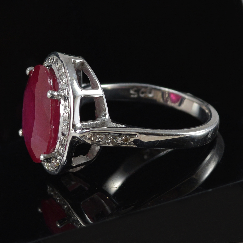 Handmade Jewelry Manufacturer Ruby Gemstone 925 Sterling Silver Ring Sz 7 Jaipur Rajasthan India