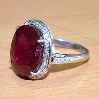 Ruby Gemstone 925 Sterling Silver Ring Sz 5.75  Jaipur Rajasthan India